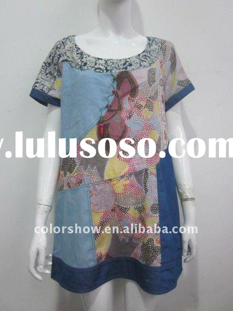 2012 Ladies fashion summer printed blouses