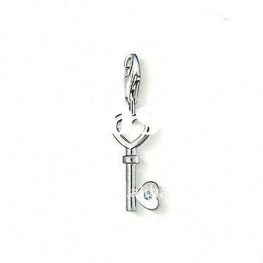 2012 Western and New Age Fashion alloy silver plated key shape Charms DH184851