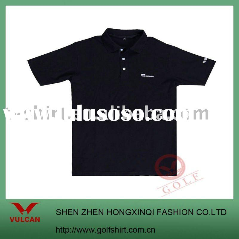 2012 fashion black polo shirt with classic design