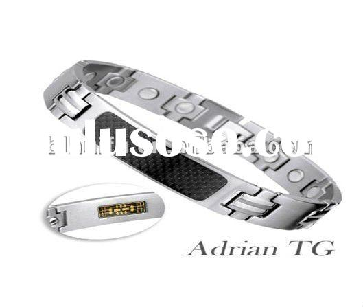 2012 fashion stainless steel magnetic bracelet for man