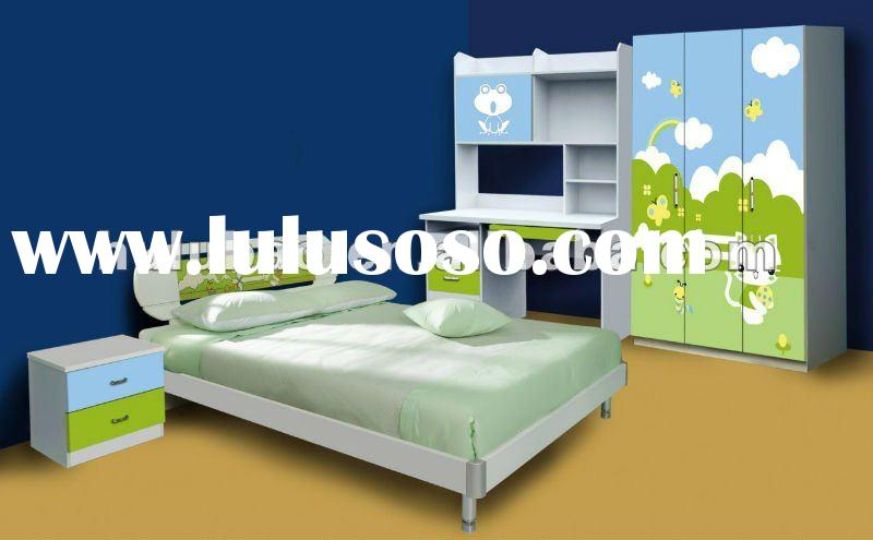 2012 new design best seller MDF high glossy finish bedroom furniture for kids