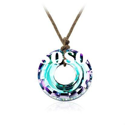 2012 new fashion sterling silver color crystal pendant