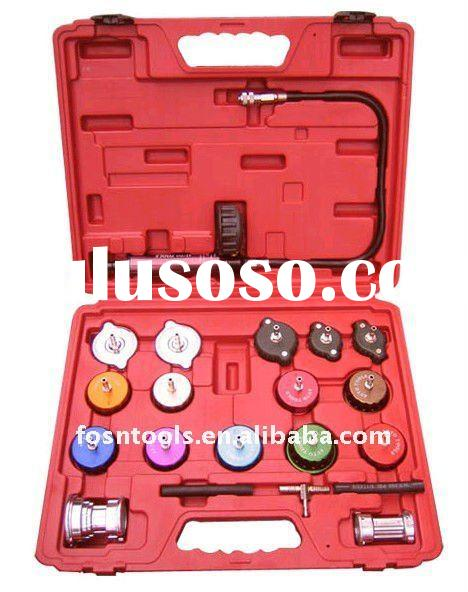 21 piece Cooling System Tool Of Radiator Cap Pressure Tester