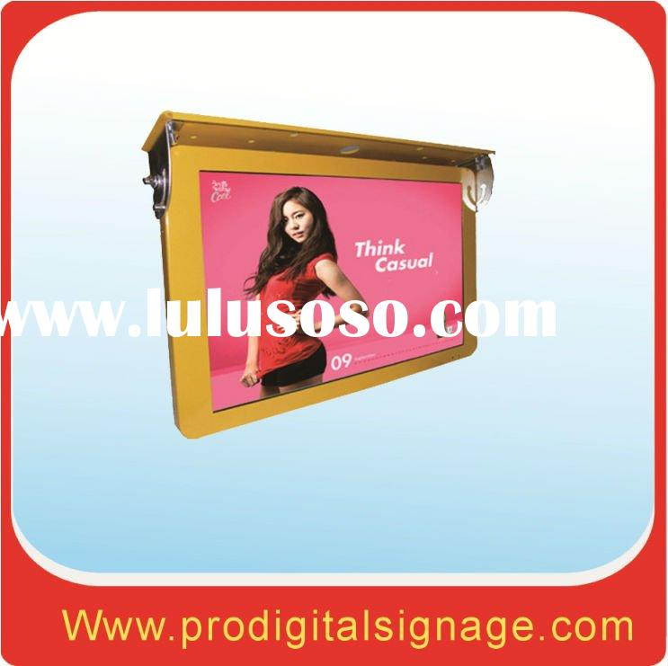 """22"""" inch bus lcd advertising display with network"""