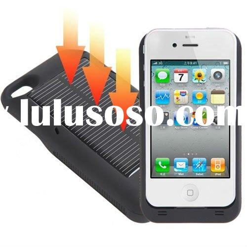 2400mAh USB Solar Power Rechargeable External Battery Pack for iPhone 4 4G