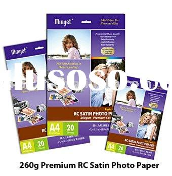260g Premium Inkjet Satin Photo Paper ( RC-Base)