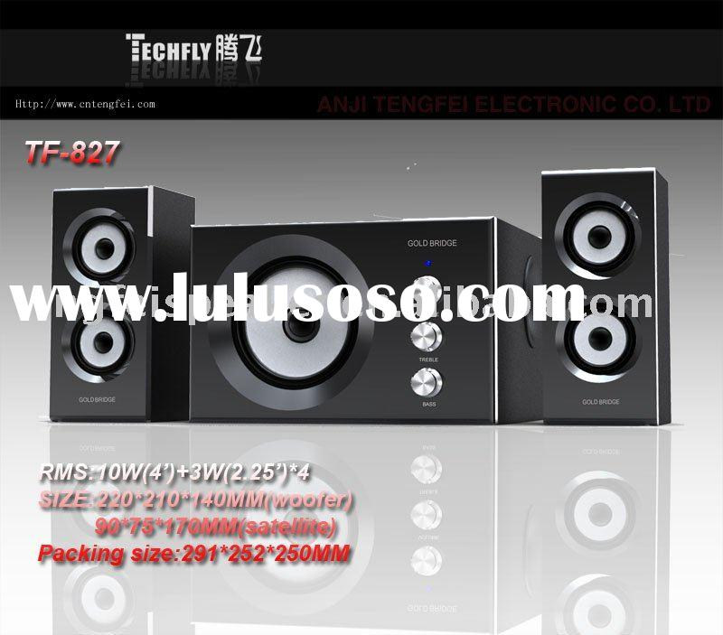 2.1 home theater ,2.1 channel multimedia speaker system with piano finish/TF-830
