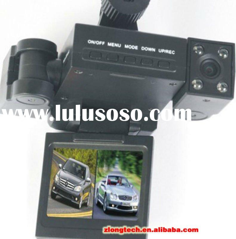 "2"" TFT Car DVR 2 cameras 180 degree flip 90 degree wide angle 8 lights 2011 New Car Black Box"