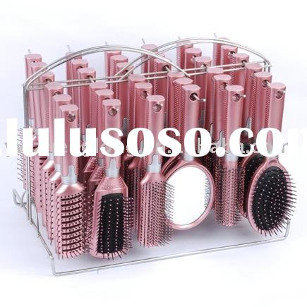 36pcs cosmetic hairbrush set comb mirror with iron rack packing