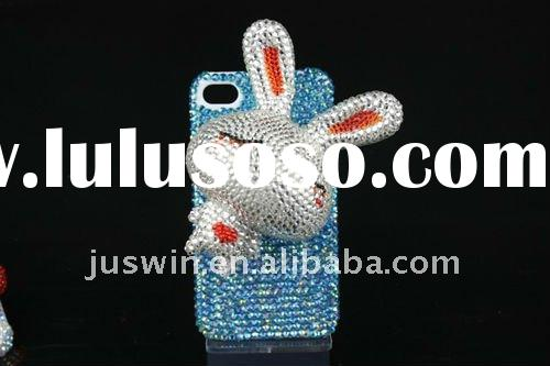 3D dimond design pearl bling crystal diamond Rhinestone hard plastic case covers for iPhone 4 4G 4S