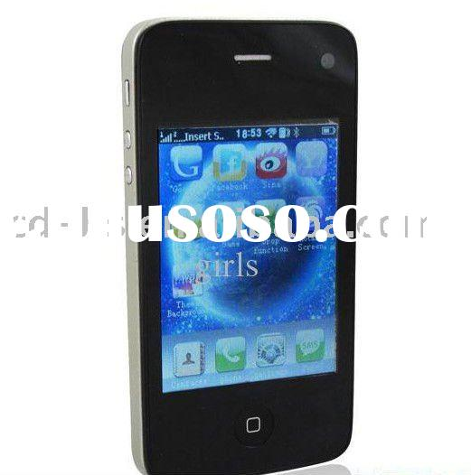 3.2 inch Quad Band Dual SIM Cards Camera Cell Phone Touch Screen WiFi Java TV Mobile Phone New USD52