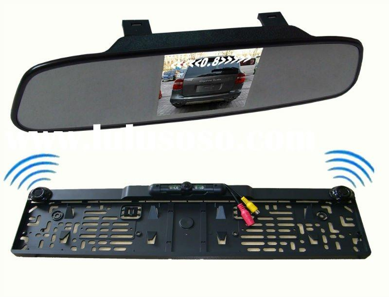 """3.5""""TFT rearview mirror ,Ultra-thin rear-view mirror+Europe license plate frame camera"""