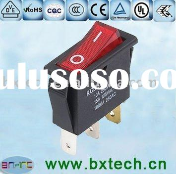 3 pin 16A 8A lighted AC power rocker switch KCD3