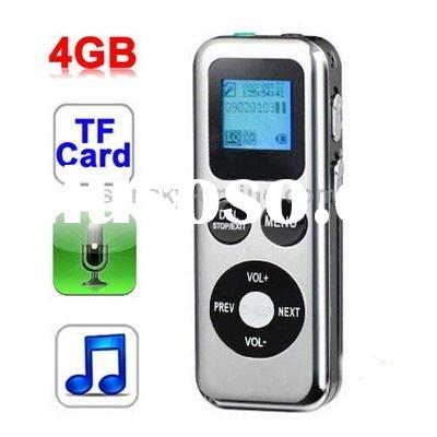 4GB Digital Voice Recorder Dictaphone MP3 Player with TF Card Slot, Support Telephone recording, Clo