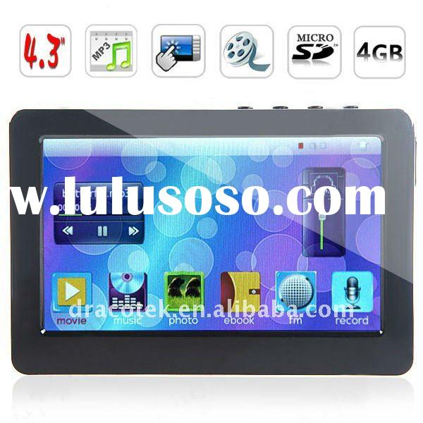"""4.3"""" TFT LCD Touch Screen MP4 MP5 Player (Media player, FM, Game, Ebook, TV-OUT) 4GB MTP43B4G"""