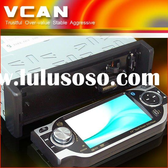 4 inch touch screen car DVD player with bluetooth/IPOD