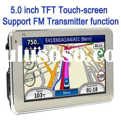 5.0 inch TFT Touch-screen Car GPS Navigator, Built in 4GB and Map, Support Voice Broadcast, FM Trans