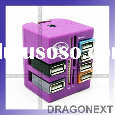 6-Port Hub With Built-in M2 / TF / MS / SD / MMC Memory Card Reader USB 2.0