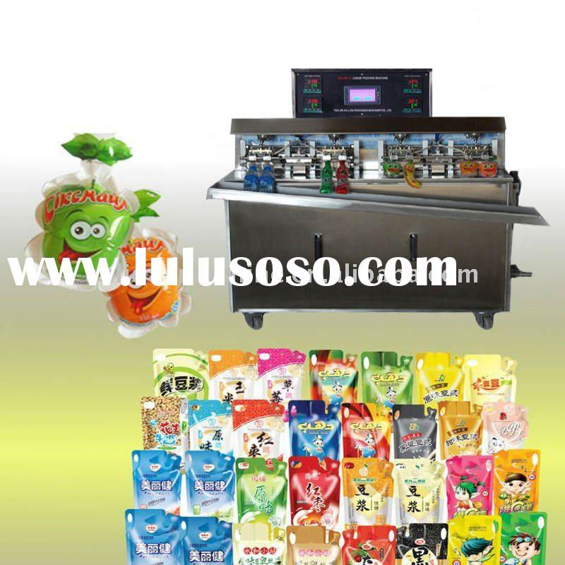 8 nozzles juice water ice lolly pouch filling sealing packaging machine