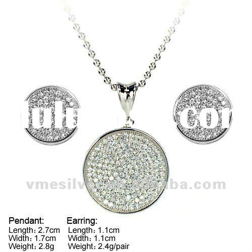 925 Silver Jewelry, Hot Sale Silver Jewelry Sets