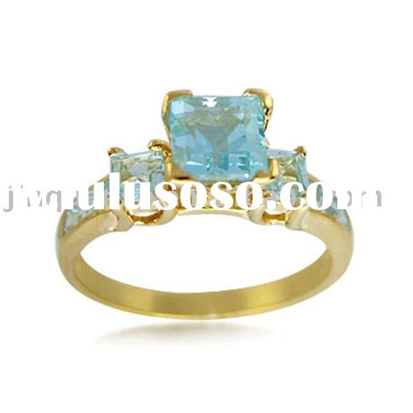 925 Stamped Sterling Silver 18K Gold Plated Rings(JQR-S5037)