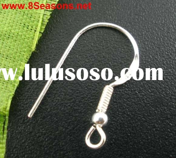 925 Sterling Silver Ear Wire Hooks With Ball