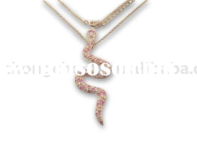 925 Sterling Silver Necklace In Snake