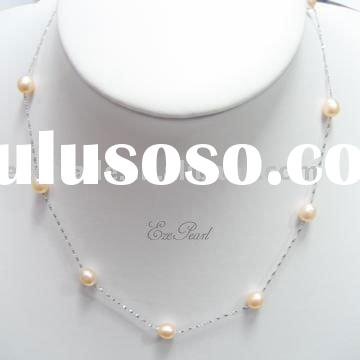 925 Sterling Silver Pearl Necklace Chain