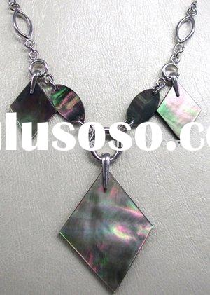 925 Sterling silver shell necklace inlaid with shell/fashion jewelry/necklace