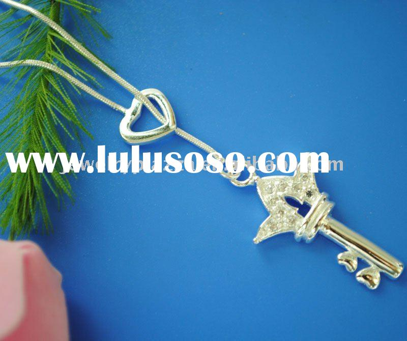 925 jewelry, sterling silver key necklaces