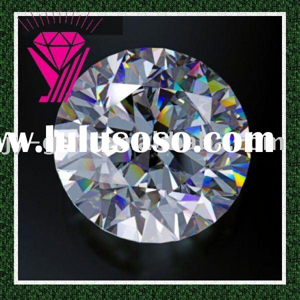 AAA round shape fashionable white cubic zirconia cz