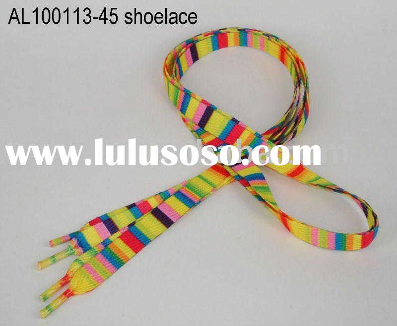 AL100113-45 shoelace polyester shoelace printed shoelaces fashion shoelace shoes accessory