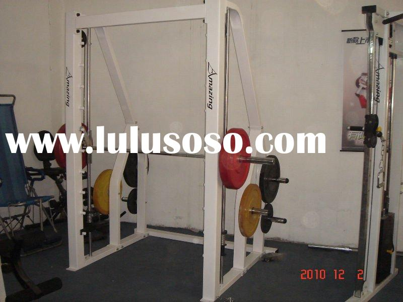 AMA-302 main frame100*100*3.0 smith machine and squat machine commercial strength training equipment
