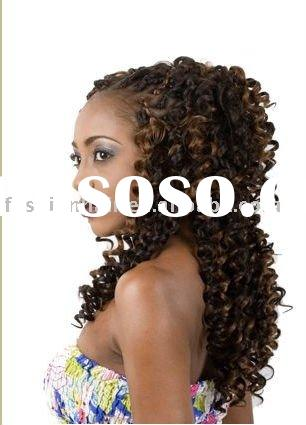 African American wigs yaki deep wave braid remy synthetic