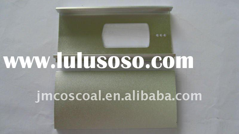 Aluminum extruded enclosure/case with sandblasting finish
