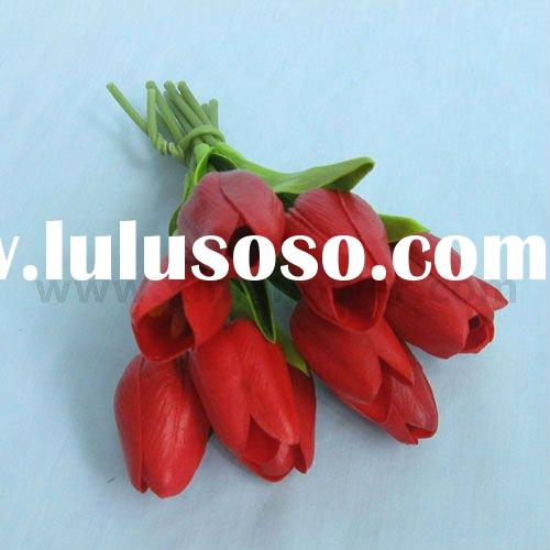 Artificial Wedding Flower Bouquet of Tulip (10 heads)