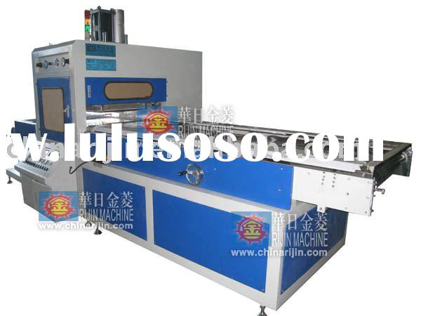 Automatic high frequency PVC box machine