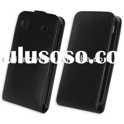 Black Leather Flip Case Pouch For Samsung Galaxy S i9000 (Accept paypal)
