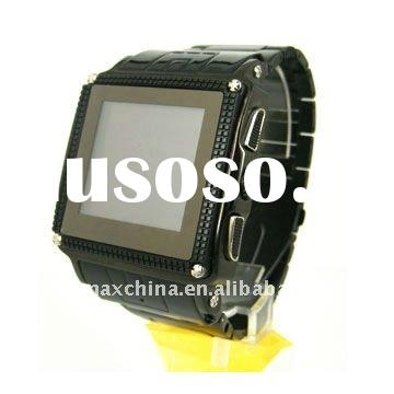 Black W818 Touch Screen Waterproof Watch Mobile Phone
