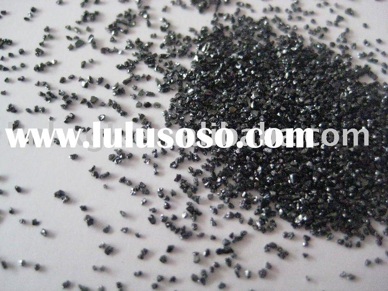 Black silicon carbide for stone polishing and grinding