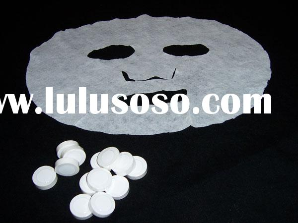 Blank Facial Mask for Filling Essential Oils: Non-woven cloth Compressed Tablet