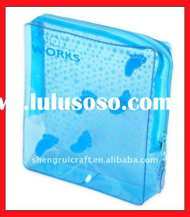 Blue High Quality PVC Zipper Bag