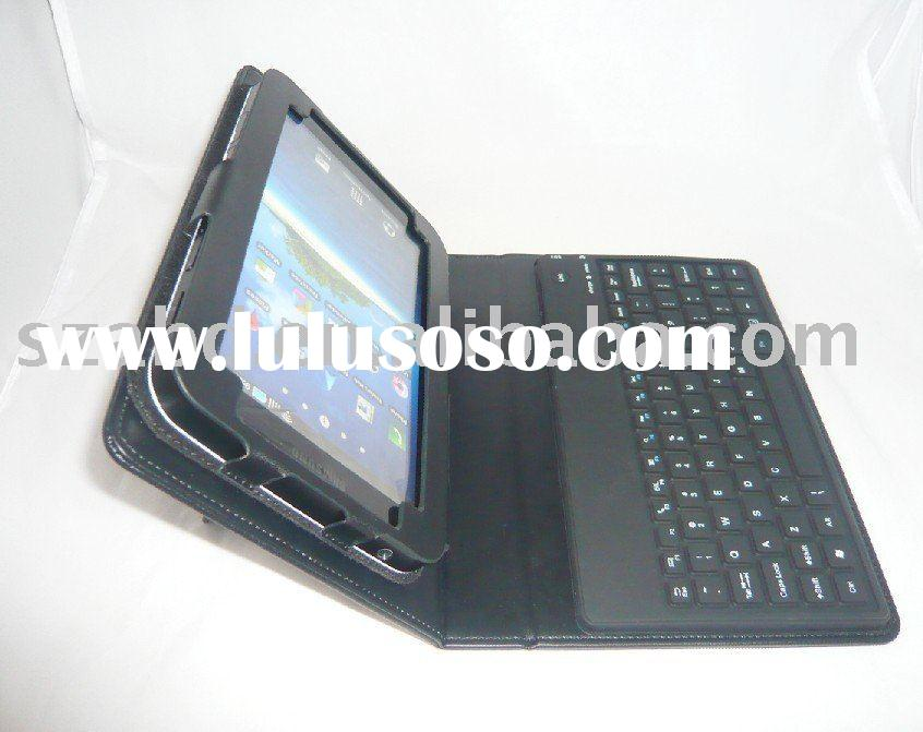 Bluetooth Wireless Keyboard Leather Case for Samsung Galaxy Tab / P1000