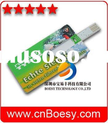 Boost your direct mail response rate, full color process credit card USB web key, wallet card usb we