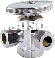 C.P 3 way angle stop valve with double outlets,brass body