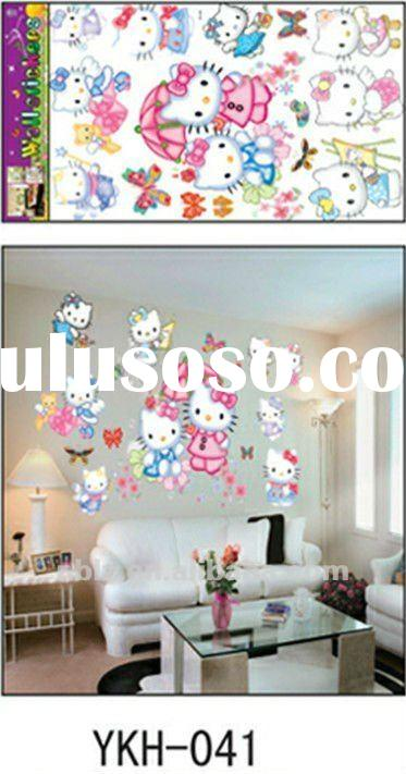 Cartoon design pvc wall sticker