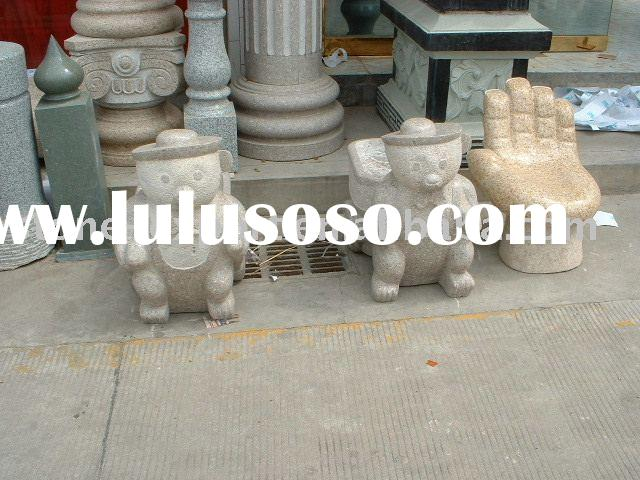 Carved Stone Table and Bench, Outdoor Furniture,coffee table