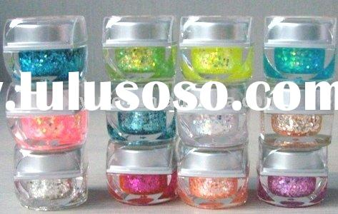 Cheap-high quality!!!Beautiful glitter Nail Art UV color gel