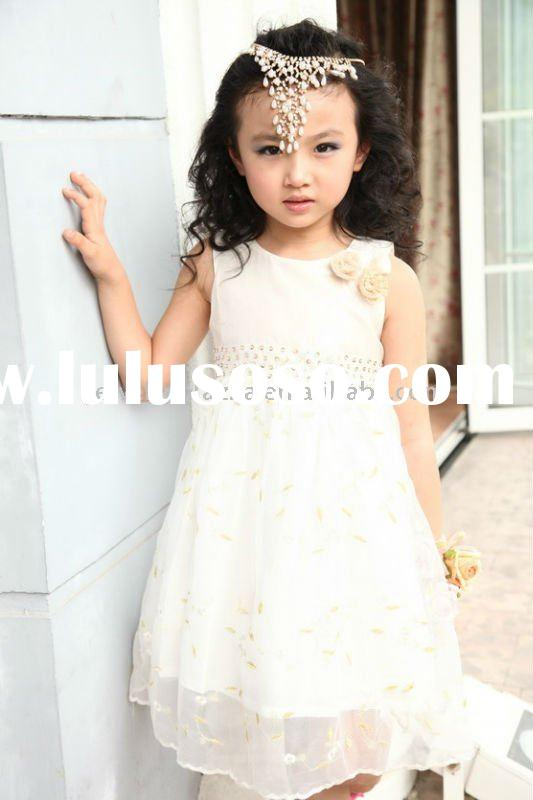 Childrens cotton clothes,2011 newest summer fashion dresses for girls -2109