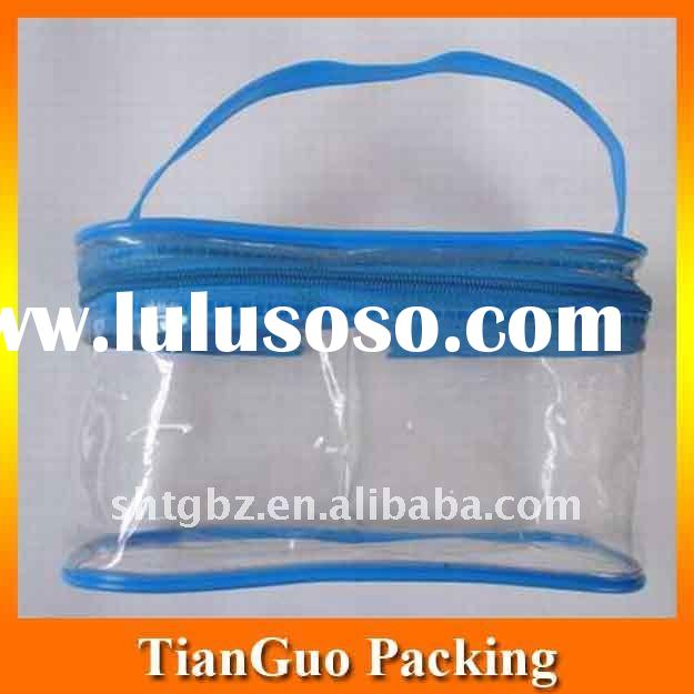 Clear PVC Bag with zipper for cosmetic packing